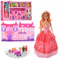 Домик для куклы с куклой и нарядами, 24-28-12см, звук, свет, 668-7