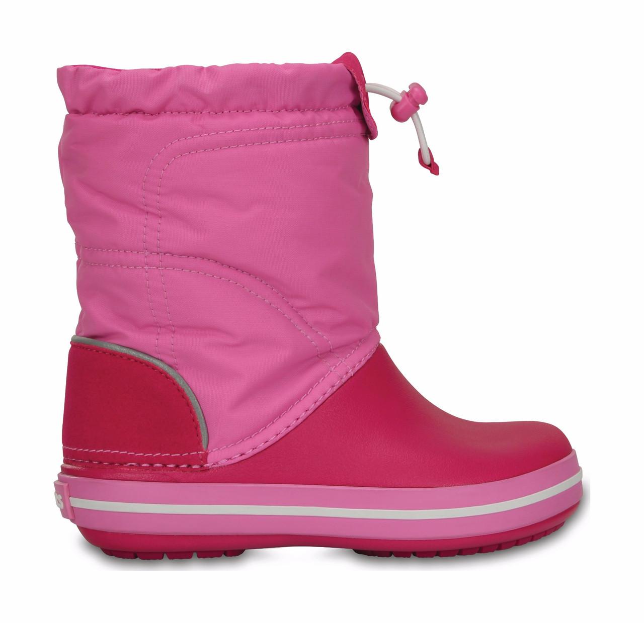 3252cf2ca629e7 Сапоги зимние для девочки Crocs Kids Crocband LodgePoint Boot / сноубутсы  детские непромокаемые с затяжкой, ...