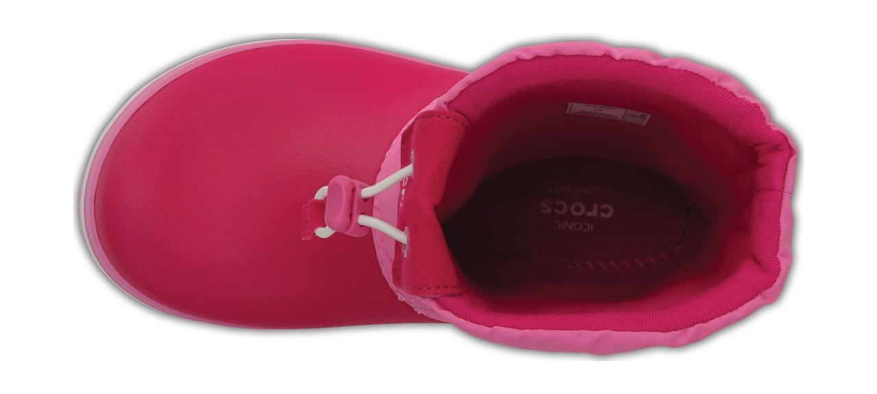 36b4eb7ed ... Сапоги зимние для девочки Crocs Kids Crocband LodgePoint Boot / сноубутсы  детские непромокаемые с затяжкой,