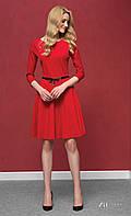 Красное трикотажное платье Carolina  Zaps