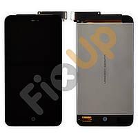 Дисплей Meizu MX2 с тачскрином в сборе, цвет черный, копия высокого качества, большая микросхема