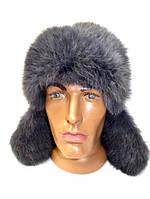Зимняя шапка ушанка мужская из меха кролика