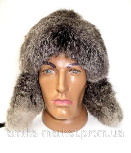 Зимняя шапка ушанка мужская из меха кролика - Амика-маркет в Хмельницком