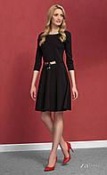 Женское трикотажное платье черного цвета Carolina  Zaps