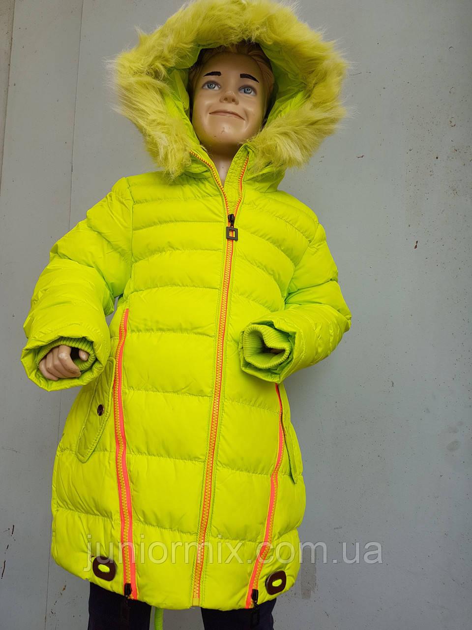 Куртка на девочку зимняя HIKIS со звездой на спине