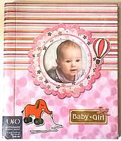 Детский магнитный фотоальбом UFO на 30 листов самоклеек 22x32 Baby розовый