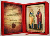 Икона греческая Апостолы Петр и Павел золото
