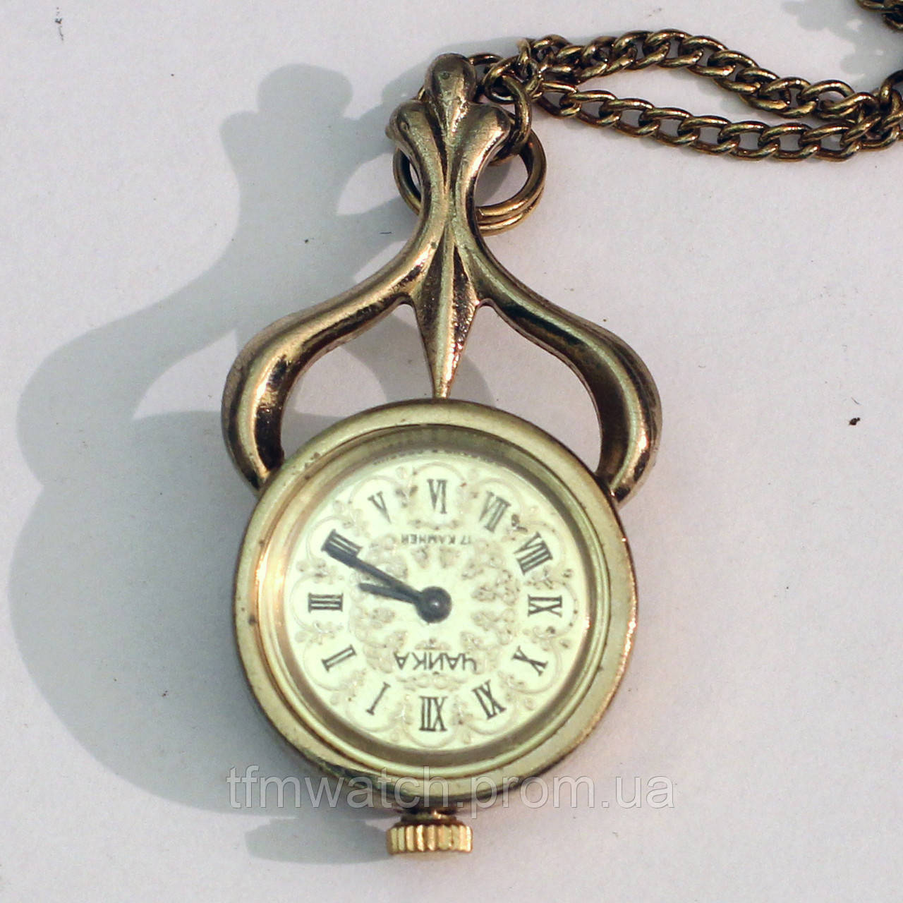 Чайка часы кулон