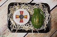Набор ароматного мужского мыла  Эмблемой воздушных войск Украины,граната