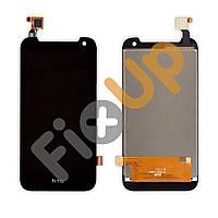Дисплей HTC Desire 310 с тачскрином в сборе, цвет черный, большая микросхема