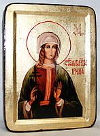 Икона греческая Ирина святая золото