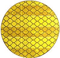 Катафот (отражатель) алмазного типа на самоклейке круглый д. 50 мм, желтый
