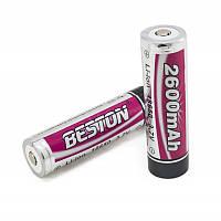 Аккумулятор 18650 Beston 2600mAh Li-ion, 2шт