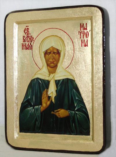 Икона греческая Матрона Московская золото