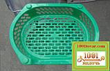 Пластиковая этажерка LUX на 4-и полки, зелёная, фото 3