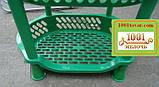 Пластиковая этажерка LUX на 4-и полки, зелёная, фото 4