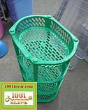 Пластиковая этажерка LUX на 4-и полки, зелёная, фото 2