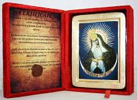 Икона греческая Остробрамская Божия матерь золото