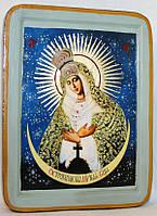 Икона греческая Остробрамская Божия матерь писаная