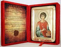 Икона греческая Пантелеимон Целитель золото