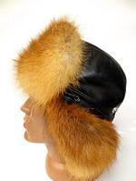 Модная меховая шапка ушанка мужская