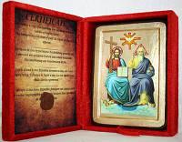 Икона греческая Троица Новозаветная золото