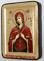 Икона греческая Умягчение злых сердец золото