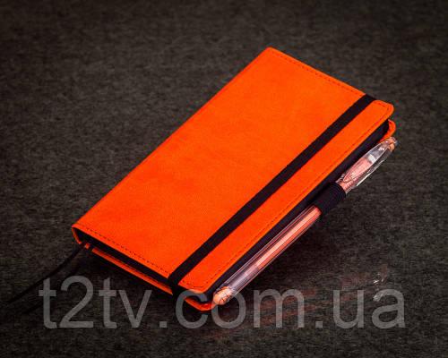 Блокнот с черной бумагой Апельсин мини