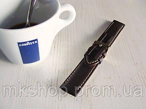 Ремешок для часов 20 мм 100% натуральная кожа шоколадный 1