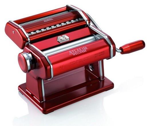 Marcato Atlas 150 Rosso паста-машина для приготовления домашней лапши и нарезки теста