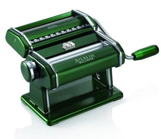Marcato Atlas 150 Verde тесторезка - тестораскаточная машина домашняя бытовая ручная для дома