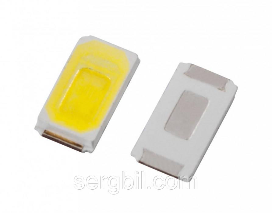 Светодиод 0,5Вт smd 5730 белый 6000К  40-50Lm, 150мА, 3,1-3,6В