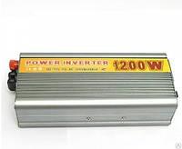 Преобразователь авто инвертор 12V-220V, 1200W   USB