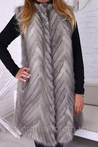Женская жилетка из натурального меха норки, фото 2