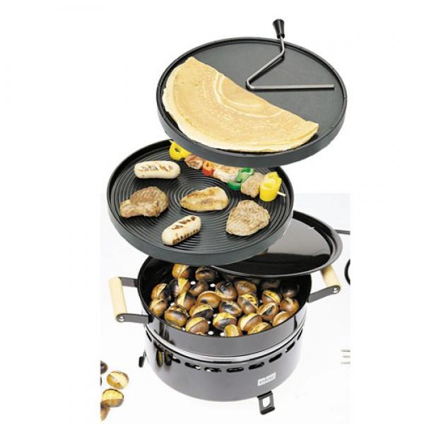 Stockli многофункциональная печь - жаровня для каштанов с грилем