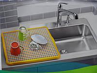 Поднос c решеткой для сушки посуды Клетка