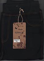 Лосины-джеггинсы женские на флисе Kenalin 9112, с 1 швом, карманы сзади, размер М-L чёрные