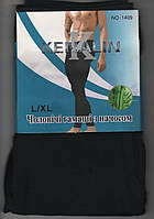 Гамаши мужские бесшовные хлопок/бамбук с начёсом Kenalin 1409, размер L-XL, чёрные