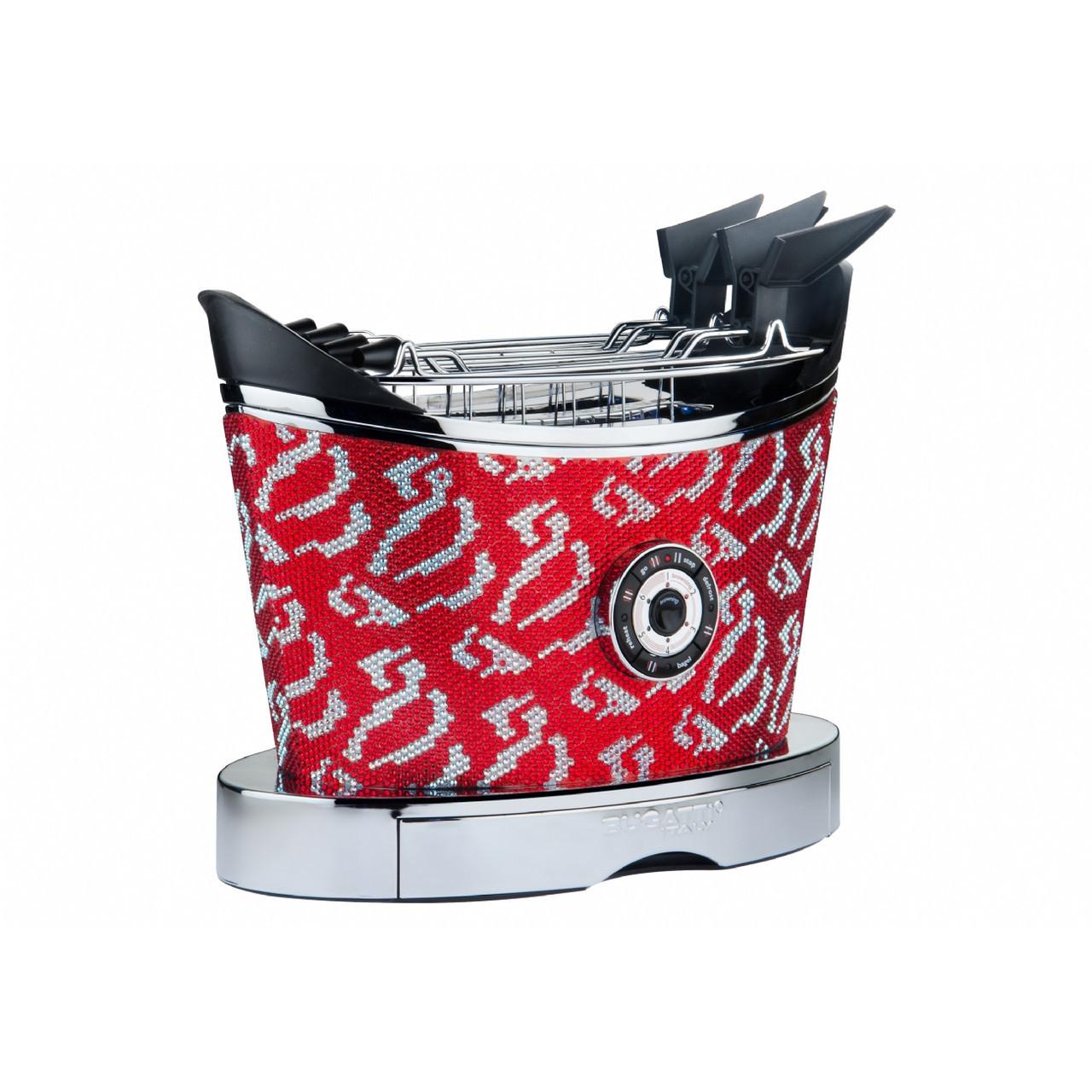 Тостер Casa Bugatti 13-VOLOSW1A/CR cristalli rossi , цвет красный