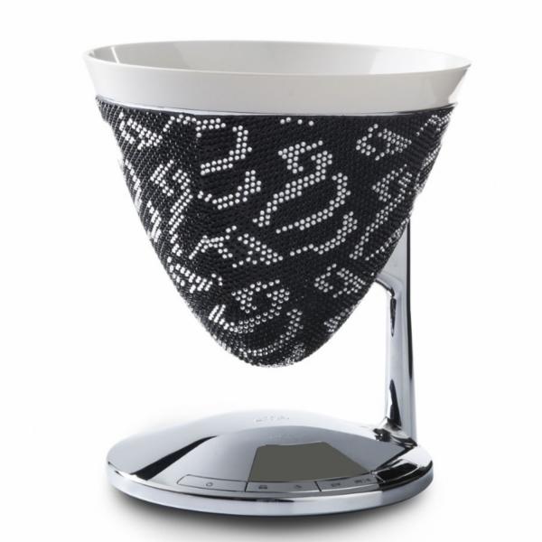 Кухонные весы Casa Bugatti 56-UMASW1/CR Brillano se i cristalli, цвет черный