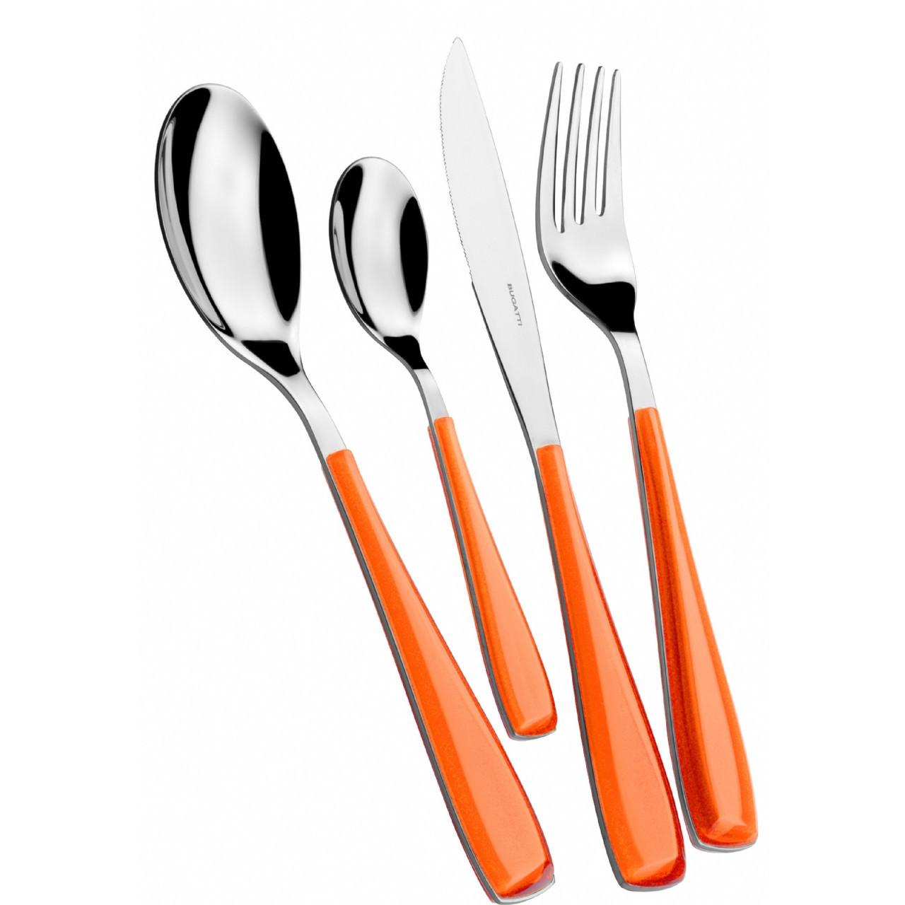 Набор столовых приборов Casa Bugatti EZOU-057F50, цвет оранжевый на 6 персон