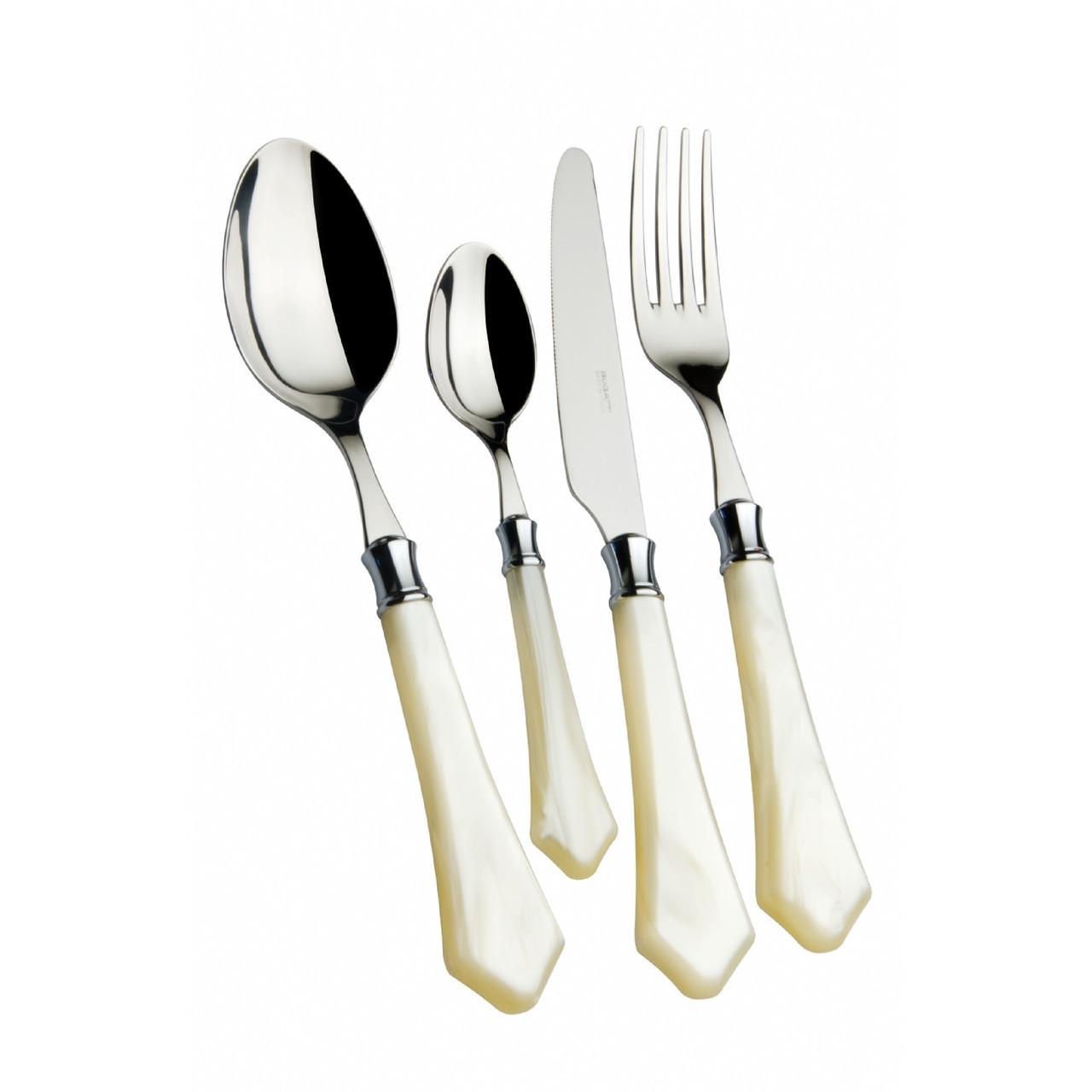 Набор Casa Bugatti VECAM-M0860 из столовых вилок,ложек и ножей ,цвет слоновая кость