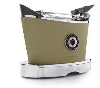 Тостер в кожаной отделке Casa Bugatti 13-VOLOBP8, цвет меланж