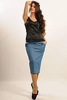 Красивая женская юбка джинс 42-52