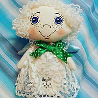 Текстильная кукла ангелочек
