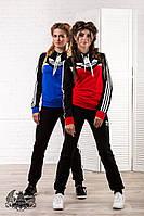 Женский костюм спортивный Adidas 5018 батал (рус), фото 1
