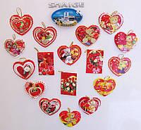 Валентинки на магните - открытки магниты оригинальные подарки на День влюбленных
