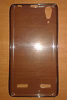 ТПУ чехол для Lenovo A6000 серый полупрозрачный