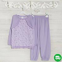 Детские пижамы для девочек 116см, 1113GERDA -хлопок-рибана, в наличии 92,104,116 Рост