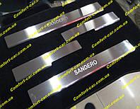 Накладки на пороги из нержавеющей стали Renault Sandero (Рено Сандеро)